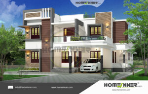 HIND-4090 House plan 3D Elevations