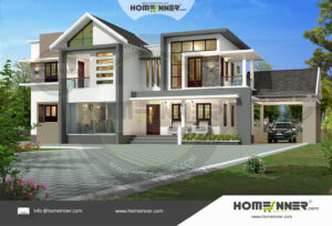 West Tripura 30 Lakh two story modern house floor plans