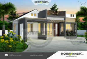 HIND-6090 House plan 3D Elevations