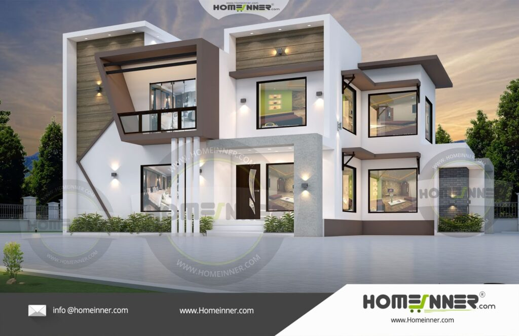 Unnao 28 lakh low cost flat roof house designs