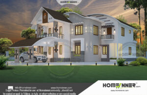 Hyderabad 38 Lakh modern double storey house plans