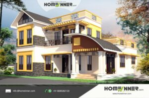 HIND-1078 House plan 3D Elevations