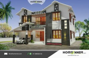 HIND-1079 House plan 3D Elevations