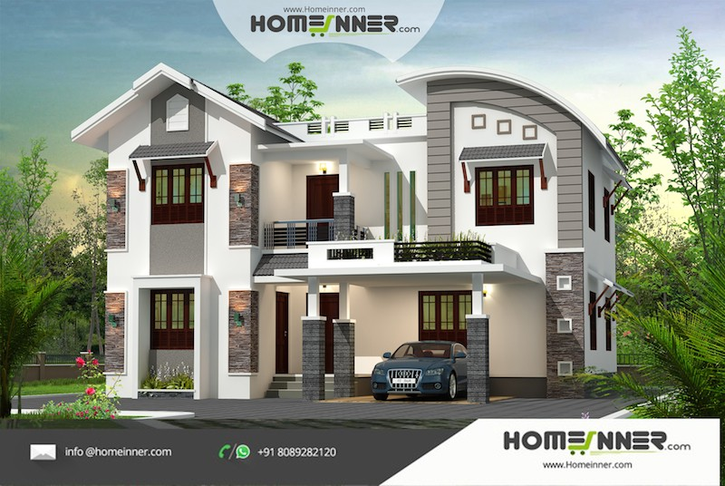 HIND-1094  Home Design Free Estimate  villa construction budget
