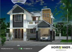 HIND-1201 House plan 3D Elevations