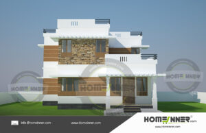 HIND-1221 House plan 3D Elevations