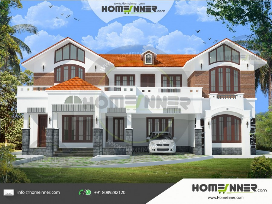 South Tripura 29 Lakh modern mansion with floor plan