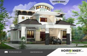 Cooch  19 Lakh traditional style home plans