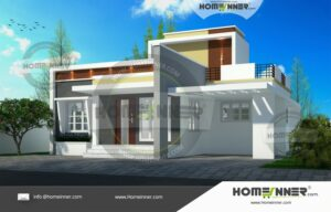 HIND-2047 House plan 3D Elevations
