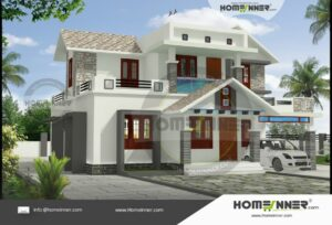 Udalguri 17 Lakh modern two storey house plan