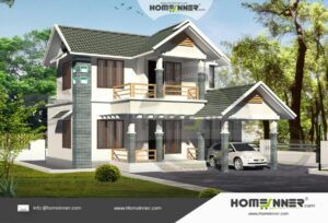 Krishnagiri  13 Lakh sloped roof home design