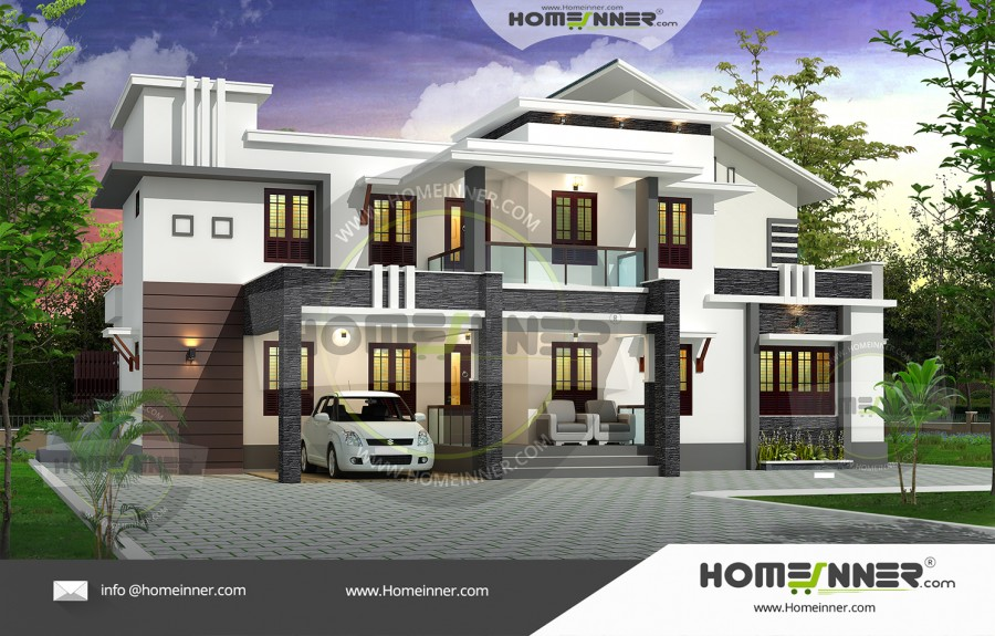 South Tripura 27 Lakh best house front elevation designs