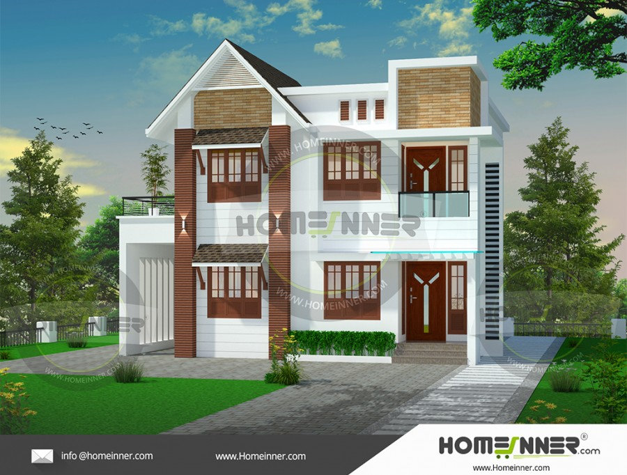 Imphal East 15 Lakh house plan with elevation images