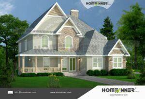 Pune  38 Lakh style villa plan and elevation