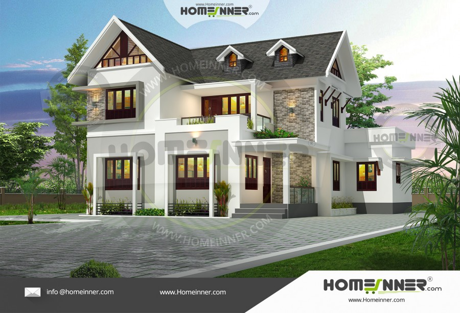 West Tripura 26 Lakh modern double story house plans