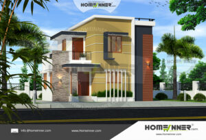 HIND-6046 House plan 3D Elevations