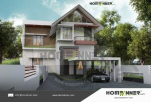 Faridabad 24 Lakh modern front elevation home design