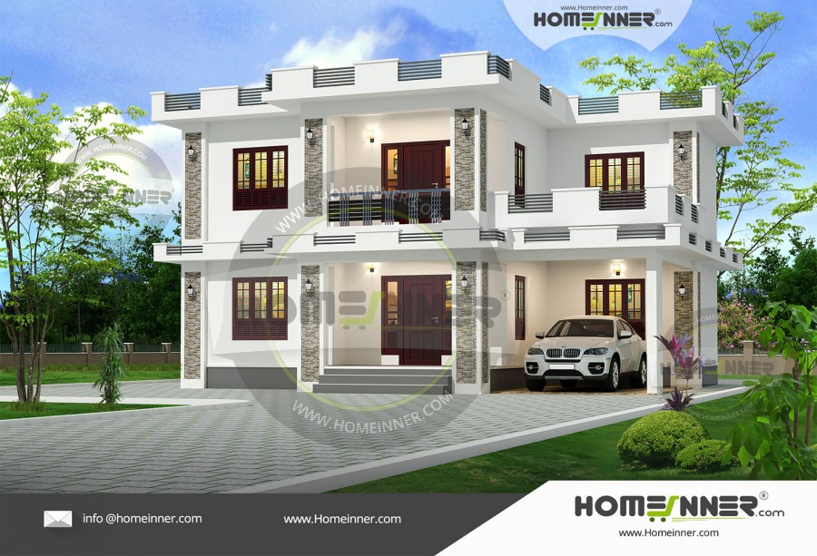 West Tripura 21 Lakh contemporary house plans with photos