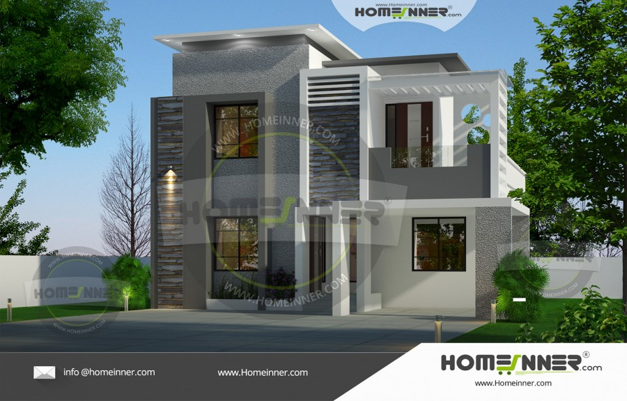 West Tripura 15 Lakh two story contemporary house