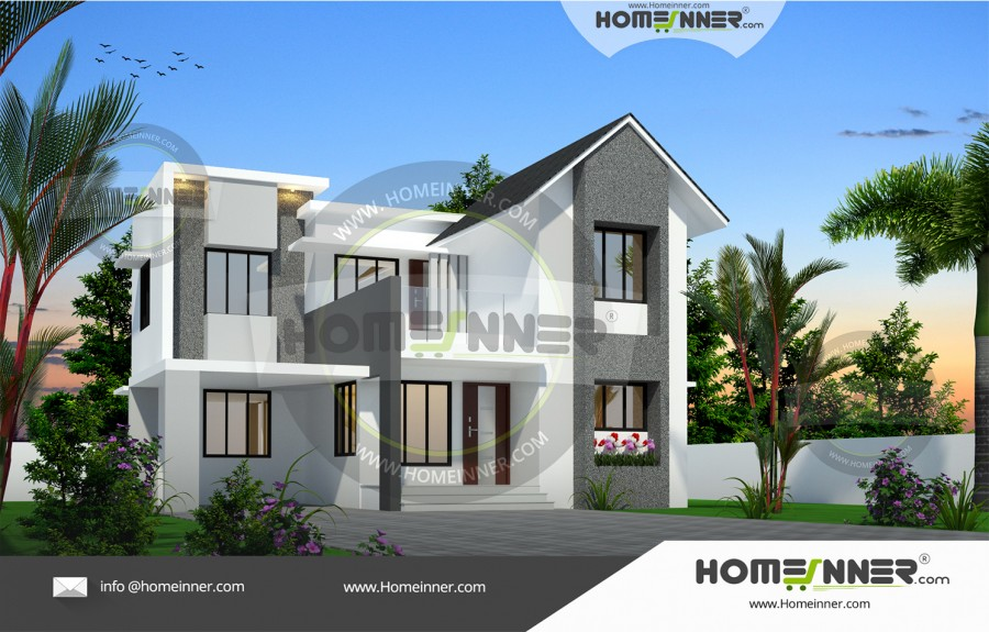 West Tripura 15 Lakh house outside elevation design
