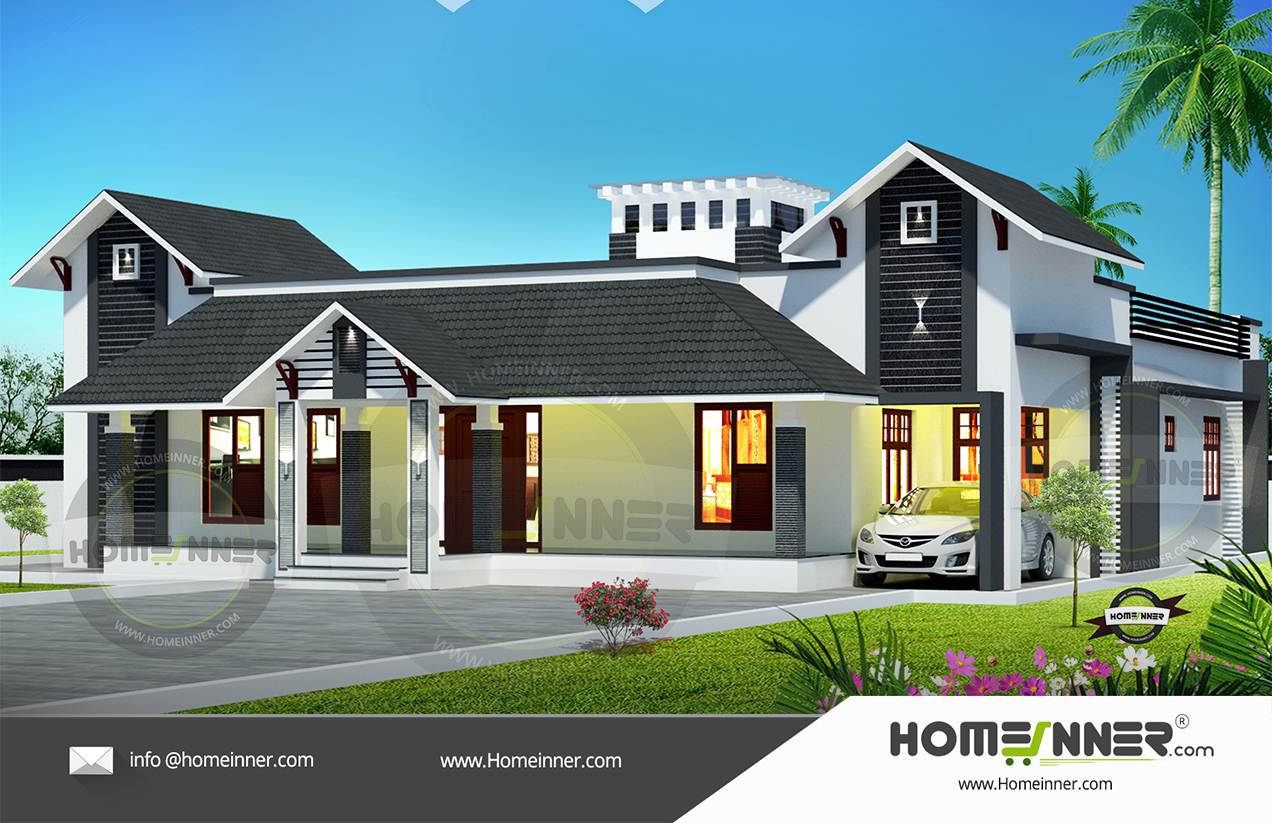 South Tripura 28 Lakh modern one story home floor plans