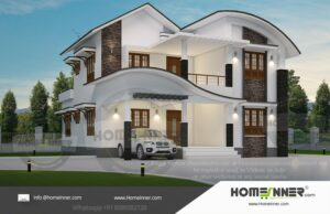 Kollam 21 Lakh home design 3d plan