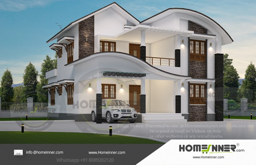 South Tripura 21 Lakh latest house front elevation designs