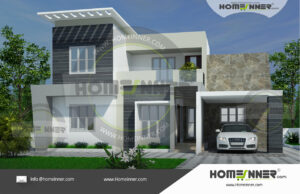 Ratlam 16 Lakh double storey contemporary house plans