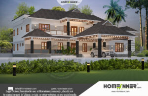 HIND-1028 House plan 3D Elevations