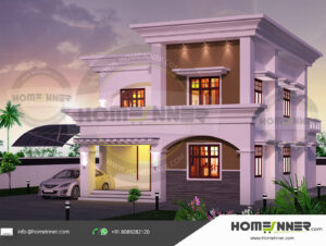 HIND-31205 Home Design Free Estimate villa construction budget