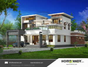 Erie Home design residential architecture 5 BHK 3485 sq ft villa house plans