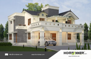 Chico Home design residential architecture 4 BHK 3347 sq ft villa house plans