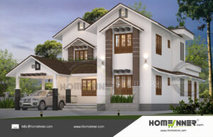 Chico Home design residential architecture 4 BHK 2562 sq ft villa house plans