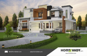 Chico Home design residential architecture 5 BHK 3854 sq ft villa house plans