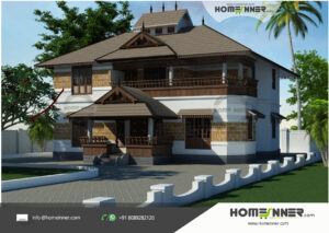Dearborn Heights Home design residential architecture 5 BHK 2492 sq ft villa house plans
