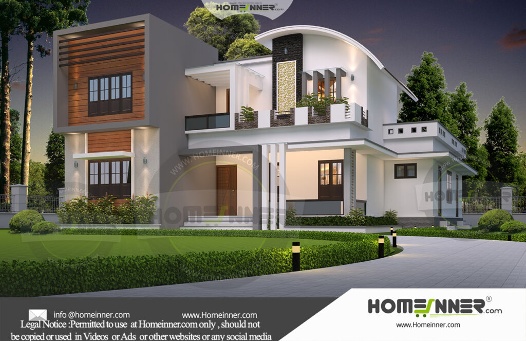 Japan Home design residential architecture 4 BHK 3050 sq ft villa house plans
