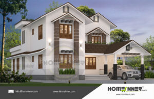 Chico Home design residential architecture 4 BHK 2564 sq ft villa house plans