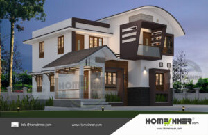 Chico Home design residential architecture 3 BHK 1625 sq ft villa house plans