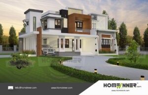 Chico Home design residential architecture 5 BHK 3853 sq ft villa house plans