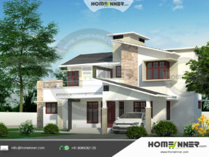 Helena Home design residential architecture 4 BHK 1695 sq ft villa house plans