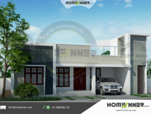 Chico Home design residential architecture 3 BHK 1235 sq ft villa house plans
