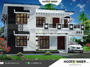 Chico Home design residential architecture 4 BHK 1873 sq ft villa house plans