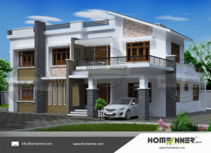 Dearborn Heights Home design residential architecture 4 BHK 3128 sq ft villa house plans