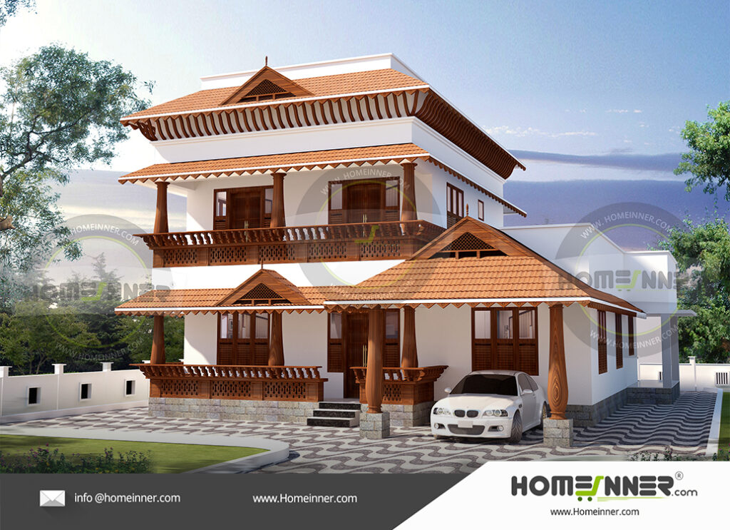 Kenner Home design residential architecture 4 BHK 3274 sq ft villa house plans