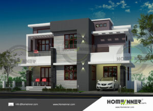 Georgetown Home design residential architecture 4 BHK 1517 sq ft villa house plans