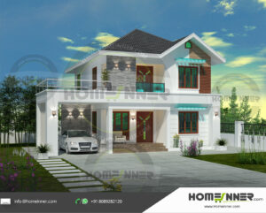 Enid Home design residential architecture 5 BHK 1817 sq ft villa house plans