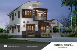 Chico Home design residential architecture 3 BHK 1627 sq ft villa house plans
