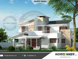Chico Home design residential architecture 4 BHK 1696 sq ft villa house plans