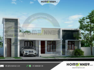 Chico Home design residential architecture 3 BHK 1237 sq ft villa house plans