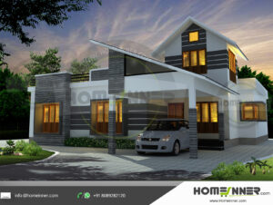 Grapevine Home design residential architecture 3 BHK 1847 sq ft villa house plans